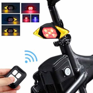 Smart Bike Turning Signal Cycling Taillight Intelligent USB Bicycle Rechargeable Rear Light Remote Control LED Warning Lamp 201117