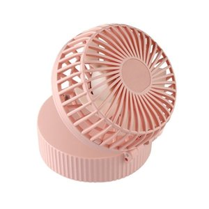 Hanging Neck Small Makeup Mirror USB Mini Folding Fan Rechargeable Air Cooler (Pink)