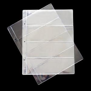 10pcs 2 3 4lines Pvc Transparent Removable Sheets For Paper Money Collection Album Banknotes Album Home Decorative Crafts H sqcXma