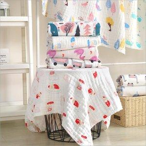 6 طبقات عالية الجودة القطن الشاش قمط البطانيات لينة الوليد منشفة حمام متعدد الوظائف الطفل بطانية Q1117