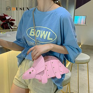 Bag Girls PU Design Dinosaur Ladies For Bags Shoulder Women Leather Messenger Chain Rivet Personality Mini Crossbody Purse Sac C1123 Tb Rfjh