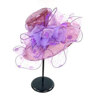 Party Summer Fashion Girl Beach Foldable Wide Brim Bridal Cap Ruffles Casual Gift Women Hats Spring Anti-UV
