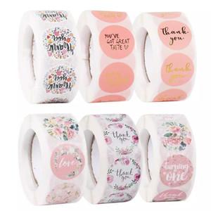 Huiran Cadeau Stickers Stickers 500pcs Merci de l'amour Design Diary Scrapbooking Stickers Stickers Festival Anniversaire Cadeaux Décorations Étiquettes