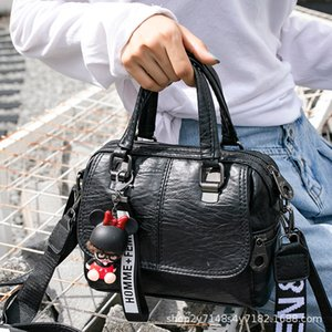 Bag Women All-Matching Korean Style 2020 New Handbag Multi-Purpose Large Capacity Wide Ribbon Messenger Bag Shoulder Bag Delivery