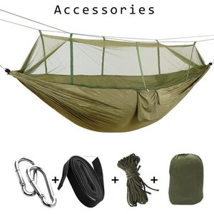 1-2 Person Parachute Fabric Portable Cloth Automatic Easy-to-Put-up Tent Outdoor Camping Anti-Mosquito Hammock with Mosquito Net Z1123