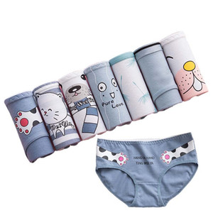 7 Pcs Set Women's Cotton Panties Print Breathable Briefs Girls Soft Panty Underwear Female Intimates For Women Sexy Lingeries LJ201225