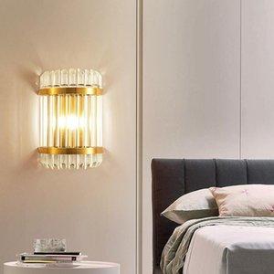 Fumat Wall Light Sala de estar de noche LED Lámpara de pared Sconce K9 Crystal Modern Iluminación Luminaria Cuarto de baño Lámparas de luz
