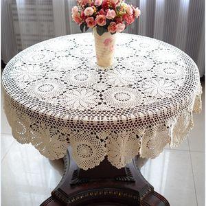Tablecloth Handmade Crochet Dinner Round Table Table Pano 100% Algodão Muitos Tamanho Disponível 201120
