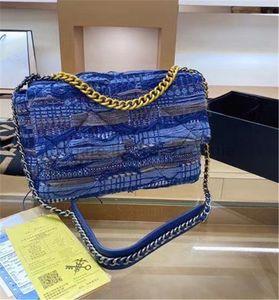 Designer di lusso classico Nabi donna borse a tracolla di moda lettera catena geometrica bicolore crochet lady borse clutch clutch canali da donna borse da donna