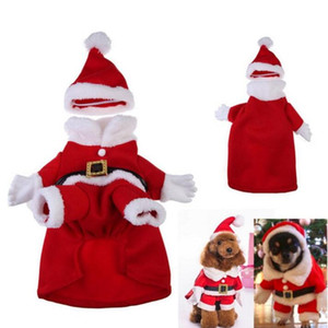 Christmas Dog Roupas Bonito Festival Vestir Roupas Quente Olhar Vertical Permanentes Fatos de Natal Pet Fontes Zyy14