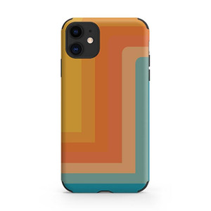 European and American retro rainbow to map customized mobile phone case for Apple iPhone 12 pro max mobile phone case goophone