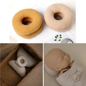 Newborn Photography Props Posing Support Pillow Baby Boy Girl Photo Shoot Studio Round Donut Head Poser Props LJ201014
