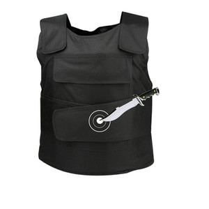 10pcs lot Hard Stabproof Vest Black Outdoor Tactical Personal Self Defence Safety Vests Stab Proof Clothes Anti Cut Tungsten Steel Plate