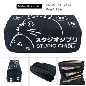 Cartoon My Neighbor Totoro No Face man Zipper Travel Cosmetic bag Canvas Pencil Case Student Penbag Women Makeupbag Stationery