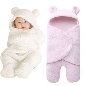 Unisex Infant Baby Hooded Wrap Blanket Fleece Newborn Swaddle Blankets Babies Sleeping Bag Swaddling Blanket 0-12 Month