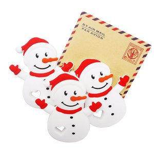 Silicone Snowman Teether Baby Cute Cartoon Teether for DIY Baby Nursing Chewing Teether Chain Pendant Necklace Toy