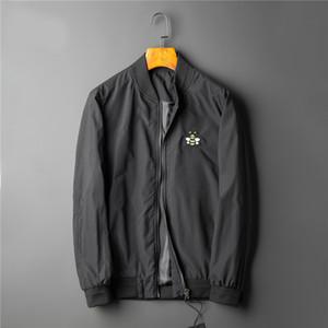 Hot sale new style printed jacket coat autumn men's casual jacket sports hoodie long sleeve zipper windbreaker men's round neck