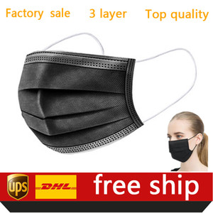 DHL Free Shipping 50pcs Disposable Masks Protection and Personal Health Mask 3-Layer Facial Cover with Earloop Mouth Face Sanitary Masks