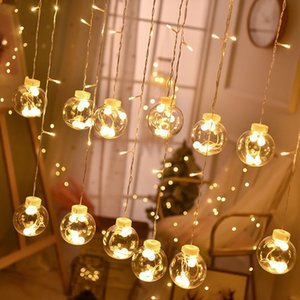 LED Wish Orbs Holiday Colored Lantern Flashing String Lights Star Curtain Light Girl Heart Ball Room Layout Decorative Lights