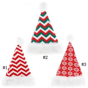 Natal de malha chapéus de malha de malha listrado bealaria cutlery pom-pom tampões xmas festa adereços chapéu decorações Cap vermelho DHC4302