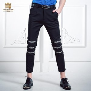 FanZhuan Free Shipping fashion casual male Men's summer men pure waist mouth flower embroidery pants personality trousers 618027
