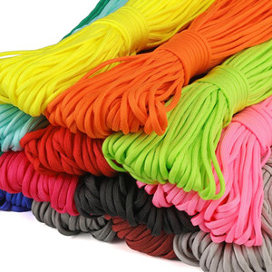 30m roll 7-stand Core Paracord Parachute Cord Colorful Polyester Survival Bracelet Rope Camping Climbing Lanyard Clothesline