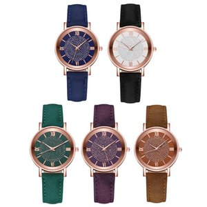 Women's Watch Classic Elegant Watch with Leather Band for Women Girls Waterproof Quartz Valentine's Day Party Gift