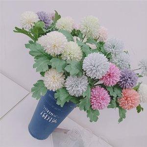 Simulazione Ball Chrysanthemums Home Decor Fiori artificiali 2 Simulazione della testa Hydrangea Party Decorazione di nozze Flower Flower T9i001114