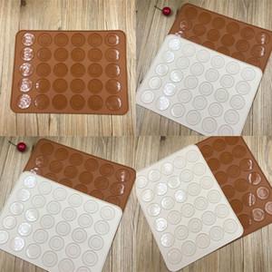 30 лунок силиконовые выпечки духовки макарон силиконовые силиконовые антипригарные коврик для выпечки сковородок для выпечки тортов для выпечки выпечки VT0227 127 J2