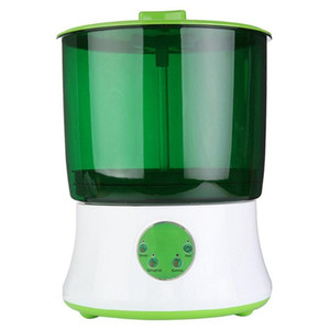 Digital Home Diy Bean Sprouts Maker 2 Layer Automatic Electric Germinator Seed Vegetable Seedling Growth Bucket Bean Sprout Mach