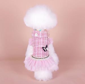 Princess Dog Cat Inverny Dress Giacca Cappotto Giacca Pet Cucciole Felpa con cappuccio Calda Abbigliamento Apperal 6 Taglie Rosa Green Color