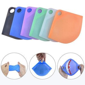 Silicone Mask Case Portable Storage Box Dustproof Cover Holder Case Storage Reusable Fold Face Mask Bag Organizers DDA821