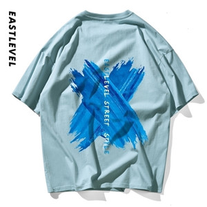 Ete summer new top men's T-shirt 2020 trendy watercolor printed round neck cotton loose couple Short Sleeve Tee7S6CHW86PD58