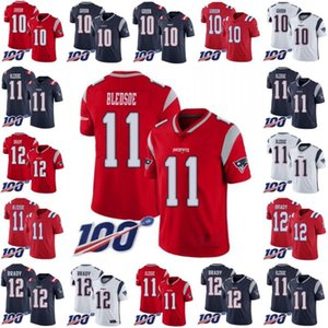 NewEnglandPatriotsMen #10 Josh Gordon 11 Drew Bledsoe 12 Tom Brady Women YouthNFL 100th Vapor Limited Jersey