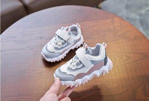 Designer 2020 spring new kids sports shoes boys breathable net shoes girls casual dad shoes tide