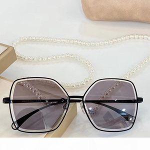 Designer Sunglasses pearl chain necklace gafa de sol 4262 women luxury designer sunglasses New with Box