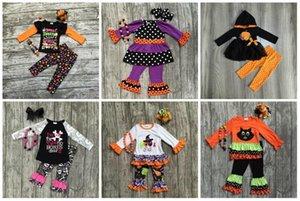 Girlymax oferta especial bebê meninas caem / inverno halloween crianças roupas de algodão conjunto acessórios de jogo J1204