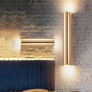 BEIAIDI Nordic Art Decor Up Down Led Wall Light Bedroom Bedside Wall Sconce Industrial Retro Golden Loft Cafe Aisle Corrid Lamp