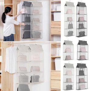 Foldable Hanging Bag Folding Shelf Bag Purse Handbag Organizer Door Sundry Pocket Hanger Storage Closet Hanger