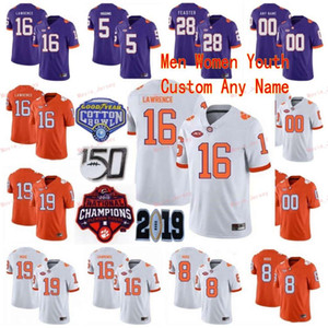 Costurado personalizado 2 sammy watkins 20 brian dawkins 23 lyn-j dixon 26 adam escolha clemson tigers faculdade homens jersey
