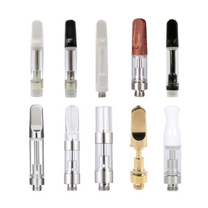 Flat Th205 Th210 M6T White Black Ceramic Wood Tips Oil Vape Cartridge Fit For Thin And Thick Oil Disposable Vaporizer