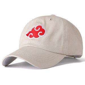 2020 New 100% Cotton Cap Japanese Akatsuki Logo Anime Naruto Dad Hat Uchiha Family Logo Embroidery Baseball Caps Black Snapback Hat