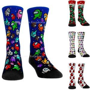 Среди нас нами носки взрослых детей унисекс средняя компрессия колена высокие носки для женщин девушки мужчины новинка милая среди нас плюшевых чулок