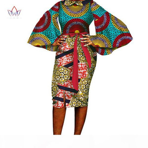 2019 summer African Dress for Women Summer Vintage Maxi Dashiki africa clothing woman o-neck full sleeve cotton none WY1711