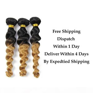 Ombre Brazilian Malaysian Indian Peruvian Loose Wave Bundles 8A Virgin Human Hair 3 Bundles or with closure 1b 27 Brown to Blonde