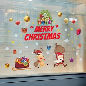 1 Christmas Wall Sticker Home Decoration Store Window High Quality Fashion Decals Cute Cartoon Christmas Stickers High Quality