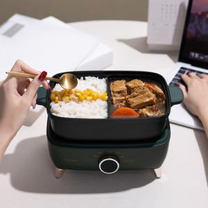 550w elétrico cozinhar pote portátil lancheira elétrica caixa de arroz split tipo hotpot multicooker frigideira elétrica frito panela 220v y1201
