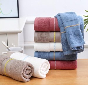 Adult towel bamboo fiber soft absorbent coffee red blue white Face Towel Gift bathroom washcloth Home Textiles 75*35cm