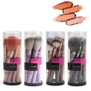 Dropship MAANGE 4 Colors Women Gift Fashion Eye Shadow Concealer Foundation Lip Brush Kit Cosmetics 9pcs set Makeup Brushes Set