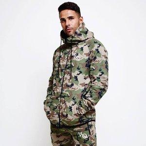 Nova camuflagem hoodies moda moletom masculino camo com capuz ao ar livre correndo esportes de fitness topos outono marca zperX1121